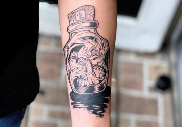 Bläckfisk-tatuering: Betydelse, design, historia och foton