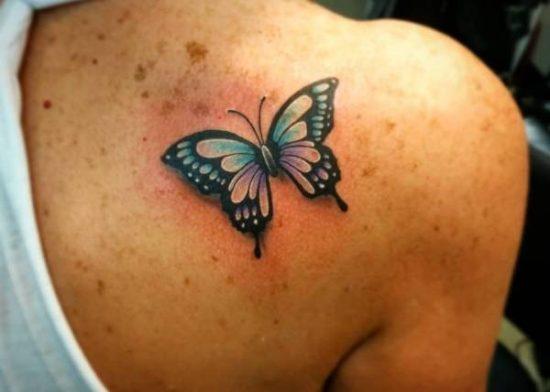 Tatueringar av fjärilar: Betydelse, design, historia och foton