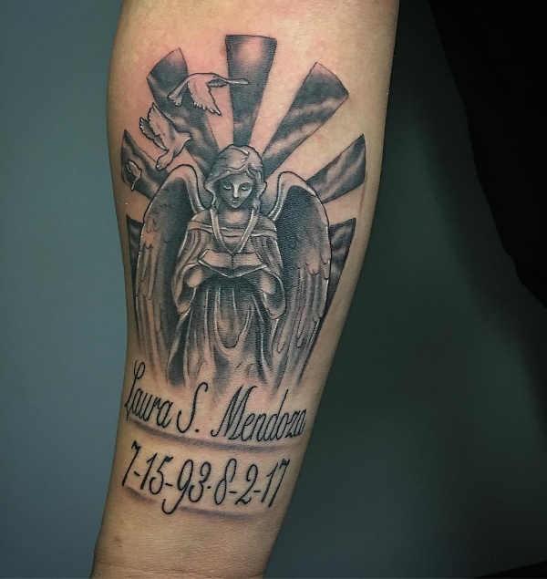 Ängel tatuering: Betydelse, design, historia och foton Tatuering idéer och betydelser