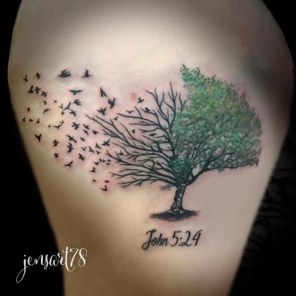 Träd tatuering: Betydelse, design, historia och foton Tatuering idéer och betydelser