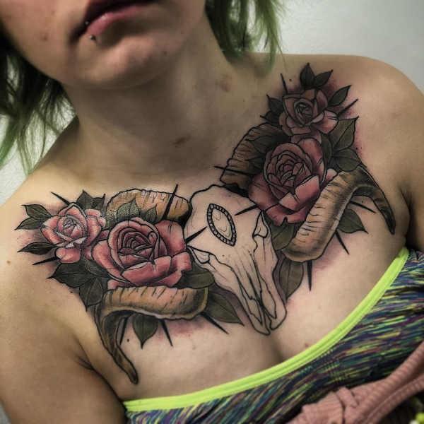 Väduren (stjärntecken) tatuering: Betydelse, design, historia och foton Stjärntecken Tatuering idéer och betydelser