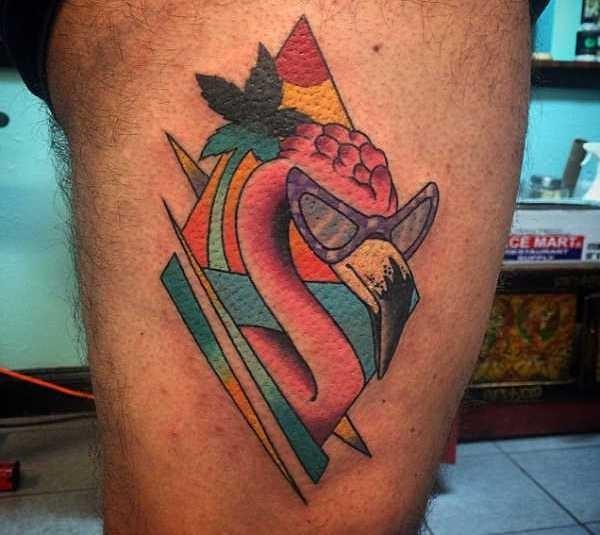 Flamingo tatuering: Betydelse, design, historia och foton Djur Tatuering idéer och betydelser