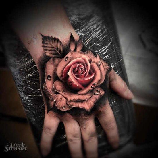 ta hand om tatuering